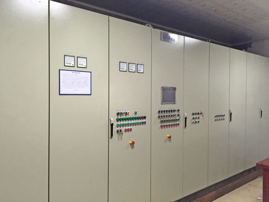 Sand processing control room